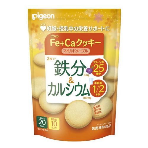 贝亲/PIGEON  孕妇营养食品 Fe+Ca高铁补钙饼干40g 枫糖汁高钙加铁饼干