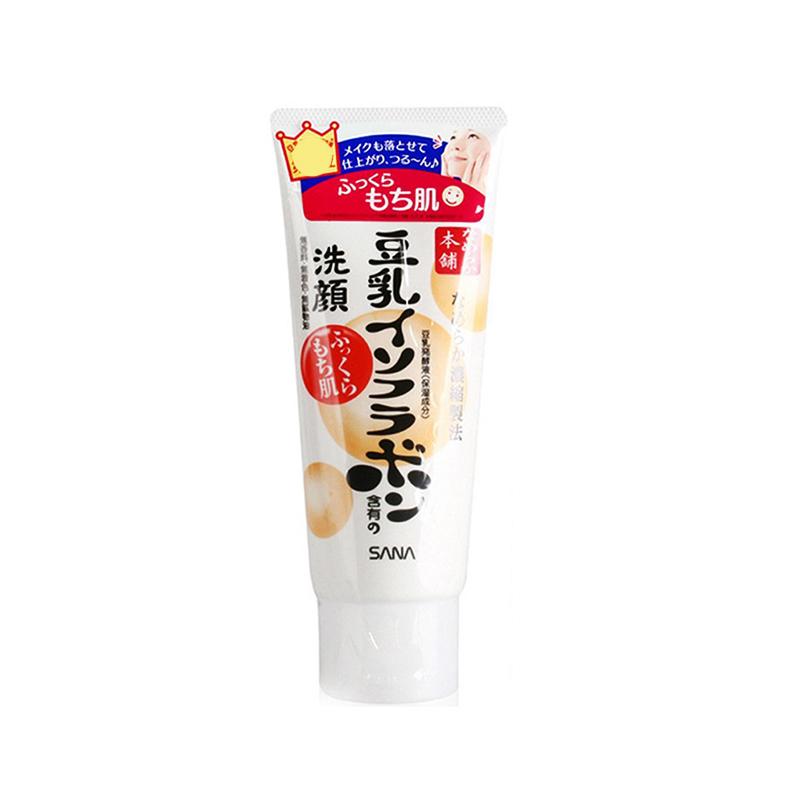 【香港直邮】【2件装 包邮包税】日本SANA豆乳保湿紧致卸妆洁面乳 白色150g/支