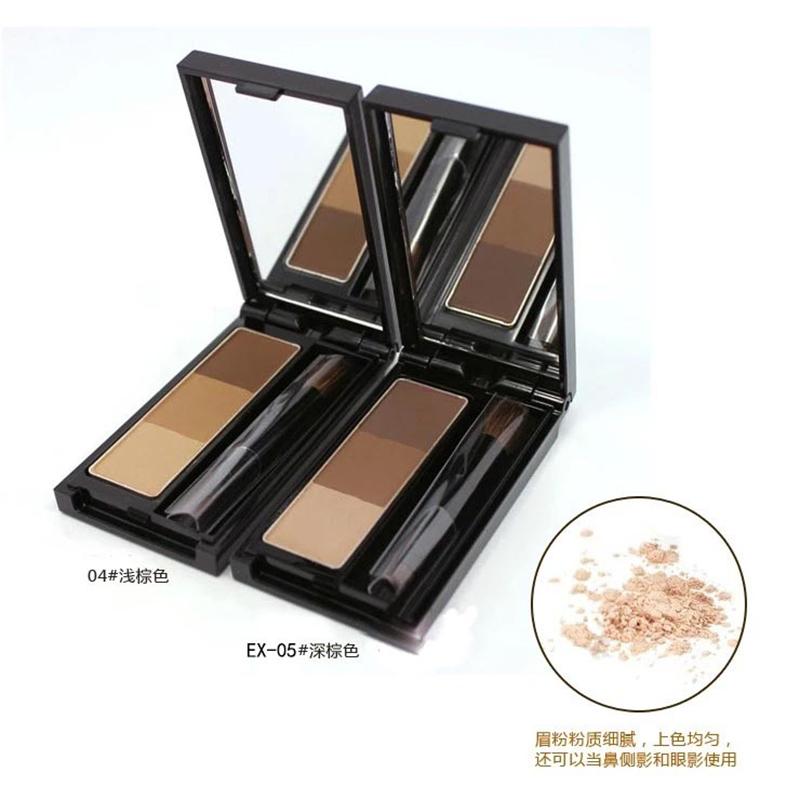【香港直邮】凯婷/KATE 自然立体三色眉粉眼影鼻影修容粉3g/盒 EX-5