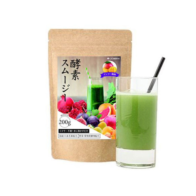 【香港直邮】日本LaMente 青汁水果酵素瘦身代餐粉 清爽型 芒果味 200g/袋