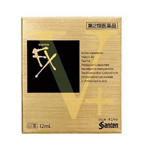 【香港直邮】【3件装 包邮包税】日本SANTEN-FX参天FXV+眼药水金盒 12ml/盒