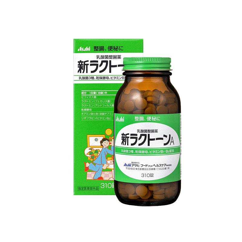 【香港直邮】日本Asahi朝日整肠便秘乳酸菌干燥酵母维生素 310粒/盒
