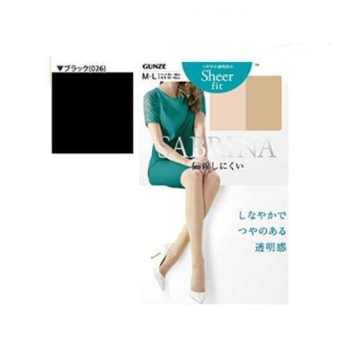 【包邮】【保税区闪送】日本制郡是SABRINA连裤袜M-L寸黑色 GUNZE加压显瘦塑形美体防勾丝柔舒型SB310M 日本原装进口