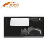 WUESTHOF三叉中式菜刀18CM宽带磨刀器