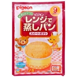 【日本直邮】贝亲/Pigeon  婴儿自制微波炉蒸面包 甘薯甜点味 21.0g*2 9个月+