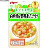 【日本直郵】貝親/Pigeon  嬰兒輔食白身魚和蔬菜的蓋澆飯80g×12個 9個月以上
