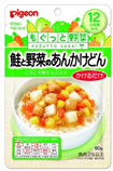 【日本直郵】貝親/Pigeon  嬰兒輔食三文魚蔬菜什錦蓋澆一歲食用80g×12個