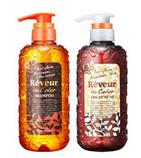 【日本直邮】Reveur 无硅洗护套装 500ml 护色保湿型花果甜香味  橙色