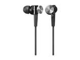 索尼/SONY 重低音耳塞/入耳式手机通话耳机MDR-XB70 B黑色
